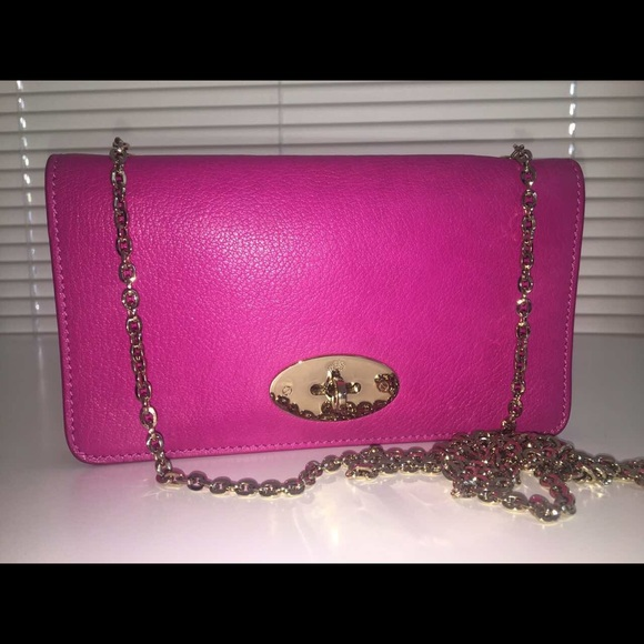 daeff109972 Mulberry Bags | Bayswater Clutch In Pink Glossy Goat | Poshmark